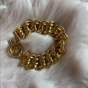 Made in Italy double chunky gold bracelet
